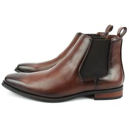 men s ankle dress boots slip on