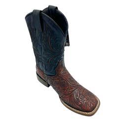 Men's Assorted Colors Leather Crocodile Print 3x Cowboy Boot
