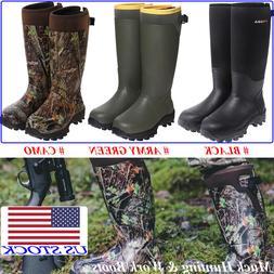 HISEA Men's Hunting Work Boots Waterproof & Insulated Rubber