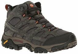 Merrell Men's Moab 2 Mid Waterproof Hiking Boot, Beluga, 9 M
