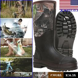 HISEA Men's Boots Neoprene Rubber Insulated Chore Working Bo