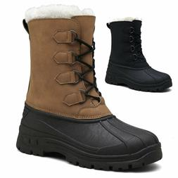 Men's Outdoor Shoes Snow Ankle Boots Fleeced Hiking Camping
