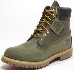 Timberland Men's Premium 6 inch Classic Leather Boots Dark F