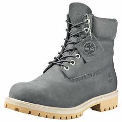Timberland Men's Premium 6 inch Classic Leather Boots Dark G