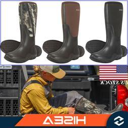 HISEA Men's Rain Boots Waterproof Rubber Neoprene Outdoor Mu