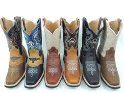 men s rodeo cowboy boots genuine leather