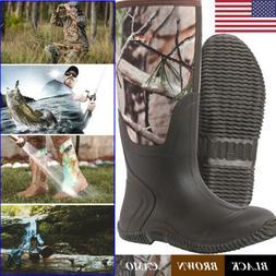 HISEA Men's Rubber Neoprene Hunting Boots Waterproof Insulat