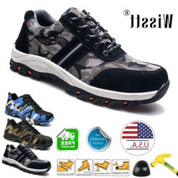 Men's Safety Shoes Steel Toe Work Boots Anti-puncture Lightw