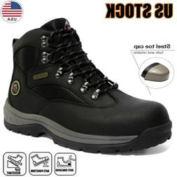 Men's Safety Shoes Steel Toe Work Boots Indestructible Water
