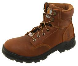 "Carhartt Men's Waterproof 6"" Brown Work Boots Made In The US"