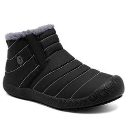 Men's Winter Snow Boots Fleece Lined Warm Booties Outdoor No