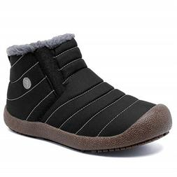 Men's Winter Snow Boots Fleece Lined Warm Ankle Booties Anti