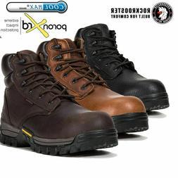 ROCKROOSTER Men's Work Boots Composite Toe Anti Puncture Wat