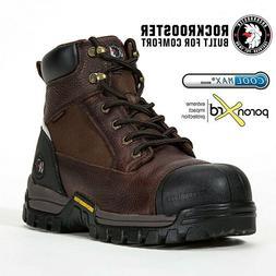 ROCKROOSTER Men's Work Boots Composite Toe Wateproof Anti-Pu