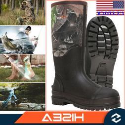 HISEA Men's Work Boots Insulated Muck Outdoor Working Boots