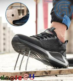 Men's Work Safety Shoes Steel Toe Cap Bulletproof Boots Inde