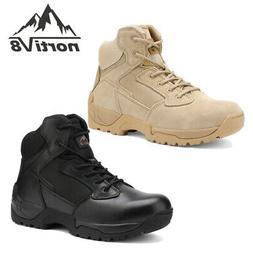 NORTIV 8 Men's Zip Military Tactical Boots Motorcycle Combat