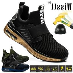Men Safety Shoes Military Steel Toe Work Boots Hiking Anti P
