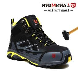 LARNMERN Men's Steel Toe Safety Work Shoes SRC Slip Resist