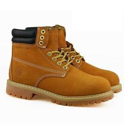 Men Winter Snow Work Boots Work Shoe Waterproof Genuine Leat