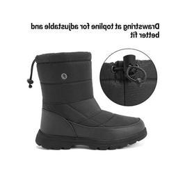 Men Women's Snow Boot Outdoor Waterproof Drawstring Cold Wea