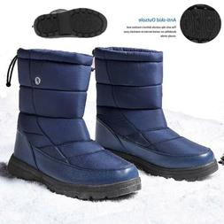 Men Womens Waterproof Snow Boots Outdoor High top Drawstring