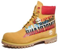 Timberland Mens 6 Inch Graphic Limited Premium Leather Boots