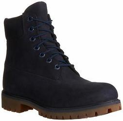 Timberland Mens 6 Inch Premium Waterproof Boots, Navy, 11 D