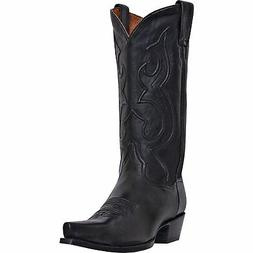 Dan Post Mens Black Saddle Leather Bexar Snip Toe Cowboy Boo