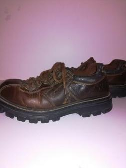 Mens Boots Size 12 GBX Brown Leather Axis Workwear