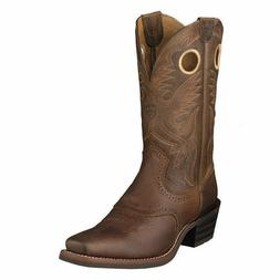 MENS ARIAT COWBOY WESTERN BOOTS! 10002227-HERITAGE ROUGHSTOC