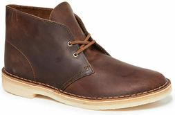 Mens Clarks Desert Boots - Beeswax Leather