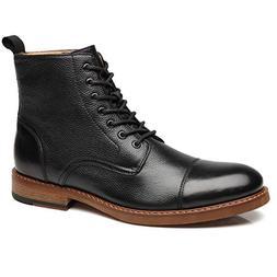 La Milano Mens Dress Boots Cap Toe Lace up Leather Winter Ox