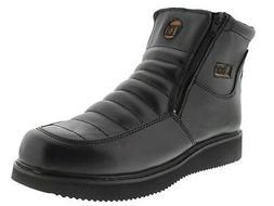 Mens Durable Black Construction Work Boots Slip Resistant Ru
