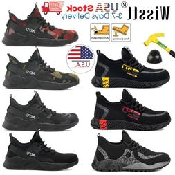 Mens ESD Steel Toe Safety Shoes Work Boots Lightweight Indes