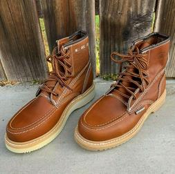 Mens Lace-up Work Construction Boots 100% Leather Size 6-14