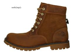 """Timberland Mens """"Larchmont 6 Inch"""" Brown Leather Boots Multi"""