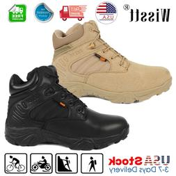 Mens Military Tactical Boots Desert Army Hiking Security Com