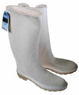 Proline Mens PVC Soft Toe Shrimp Boots - White - Size 13