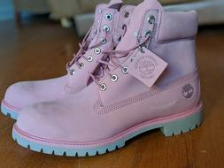 Mens Rare TIMBERLAND Boots Raspberry Color  NWT  Size 12