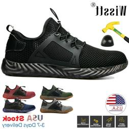 Mens Safety Work Shoes Steel Toe Boots Indestructible Outdoo