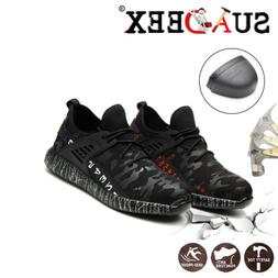 Mens Safety Work Shoes Steel Toe Boots Outdoor Hiking Climbi