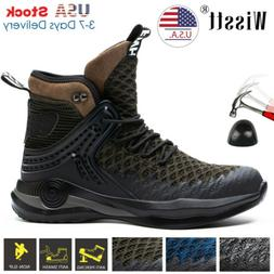 Mens Steel Toe Work Boots Safety Shoes Army Military Leather