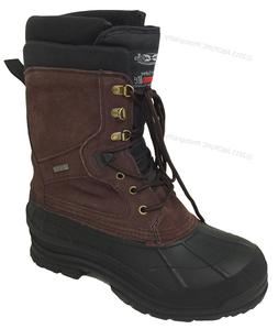 """Mens Winter Boots 10"""" Leather Thermolite Waterproof Hiking S"""