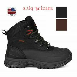 Mens Winter Warm Lace Up Waterproof Snow Boots Outdoor Hikin