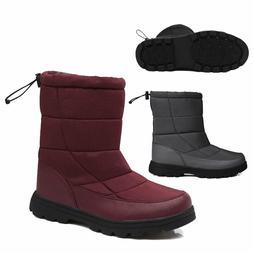 Mens Women Fleece Ankle Boots Casual Walking Winter Snow Sho