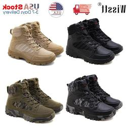 Mens Work Boots Waterproof Military Tactical Army Combat Hik