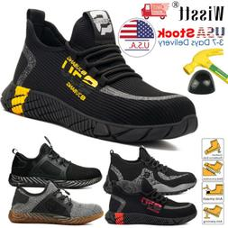 Mens Work Safety Shoes Steel Toe Boots Indestructible Bullet