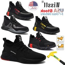 Mens Work Safety Shoes Steel Toe Cap Bulletproof Boots Indes