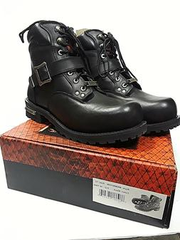 New MILWAUKEE Black Leather Boots Mens 12 MBM9010W Motorcycl